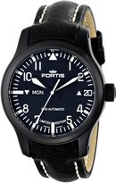 Fortis Men's B-42 Flieger Big Date PVD Automatic Leather Watch 655.18.91 L.01
