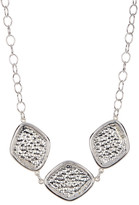 Simon Sebbag Sterling Silver Hammered Diamond Collar Necklace