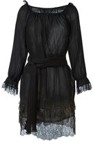 Alberta Ferretti metallic detailing pleated dress