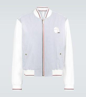 Thom Browne Seersucker striped blouson jacket