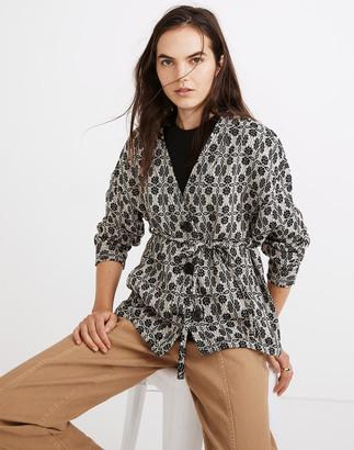 Madewell Geometric Jacquard Tie-Waist Jacket