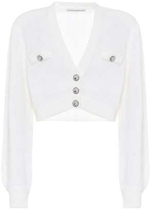 Alessandra Rich Mohair-blend cropped cardigan