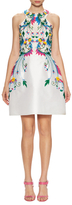 Monique Lhuillier Embroidered Fulll Flared Dress