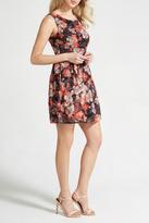 Apricot Coral Floral Dress