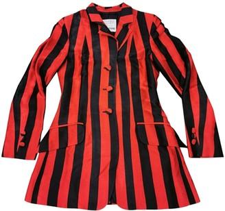 Moschino Cheap & Chic Moschino Cheap And Chic Red Silk Coat for Women