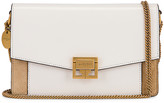 Givenchy GV3 Wallet on Chain Bag in White & Beige   FWRD
