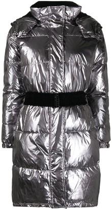 Twin-Set Metallic Padded Coat