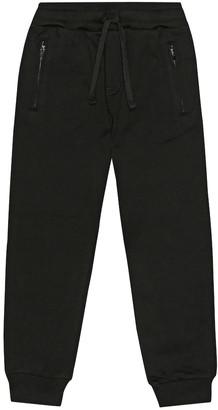 Dolce & Gabbana Kids Cotton-jersey trackpants