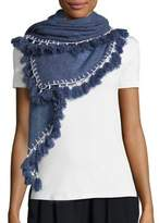 White + Warren Tassel Triangle Cashmere Scarf