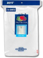 Fruit of the Loom Boys' 3-Pack A-Shirts - , 6 - 8