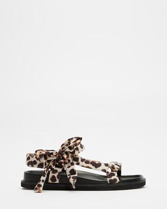 Dazie - Women's Brown Flat Sandals - Ella Sandals - Size 5 at The Iconic
