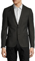 The Kooples Solid Buttoned Blazer