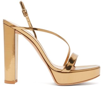 Gianvito Rossi Kimberly 85 Metallic-leather Platform Sandals - Gold