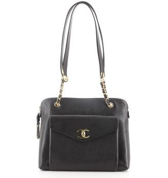 Chanel Front Pocket Camera Bag Caviar Large