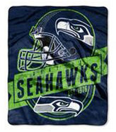 Northwest Company Seattle Seahawks Grand Stand Plush Throw Blanket