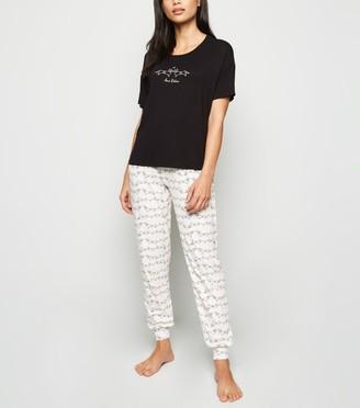 New Look Relax Dog Slogan Soft Touch Pyjama Set
