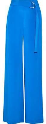 ADAM by Adam Lippes Belted Silk Crepe De Chine Wide-leg Pants