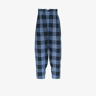 Nicholas Daley Irish check high waist trousers