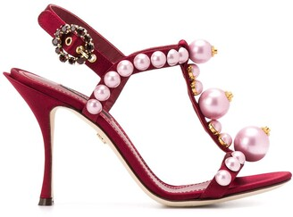 Dolce & Gabbana 105mm Pearl-Embellished Sandals