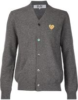 Comme des Garcons embroidered heart cardigan - men - Wool - M
