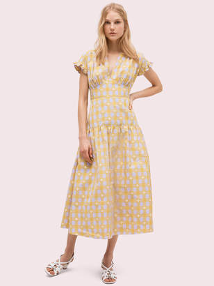 Kate Spade Gingham Spade Tie-Back Dress