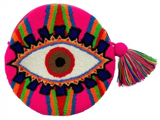 Mama Tierra Evil Eye Round Multicolour Clutch S