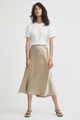 Witchery Satin Bias Skirt