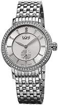 Burgi Women's BUR099SS Swiss Quartz Diamond Dial Silver-tone Stainless Steel Bracelet Watch