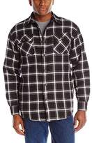 Wrangler Authentics Men's Big & Tall Long Sleeve Quilted Lined Flannel Shirt Jacket