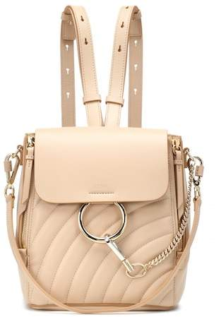 Chloé Faye quilted leather backpack