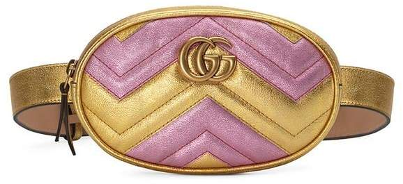 6aa96f959503 Gucci Marmont Leather Belt Bag - ShopStyle