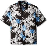 Cubavera Men's Big and Tall All Over Tropical Floral Printed Short Sleeve Woven Shirt