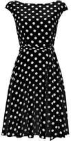 Wallis Black Polka Dot Fit and Flare Dress