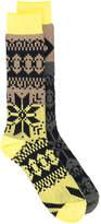 Sacai tonal patterned socks