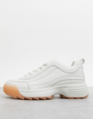 Qupid chunky trainers with pastel gum sole