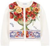 Dolce & Gabbana Mini Me knit and printed silk cardigan Caltagirone