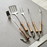 Crate & Barrel Schmidt Brothers ® 4-Piece Copper Barbecue Tool Set