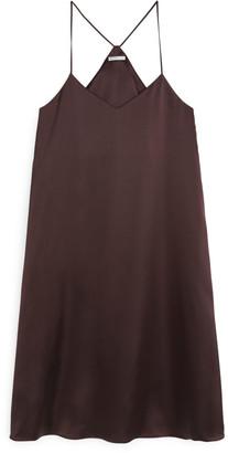 Arket Satin Strap Dress