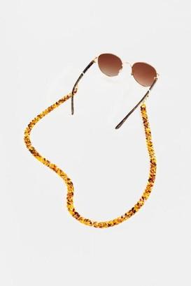 francesca's Nayla Convertible Sunglasses & Face Mask Chain - Tortoise