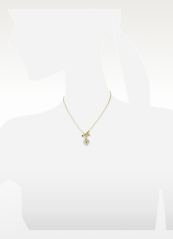 Juicy Couture Pave Heart Necklace