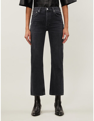 AGOLDE Riley straight cropped mid-rise jeans