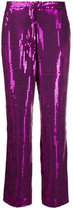 Amen Sequin Embellished Trousers