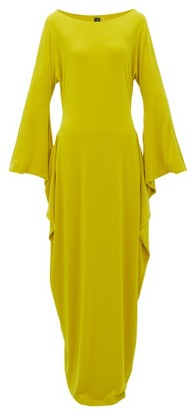 Norma Kamali Cutout-sleeve Maxi Dress - Womens - Yellow
