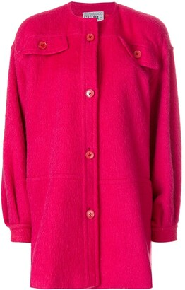Gianfranco Ferré Pre Owned Collarless Shift Coat