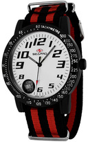 Seapro SP5111NR Men's Raceway Black & Red Nylon Watch with Built-in Compass
