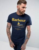 Barbour Padstow Large Print T-shirt Navy