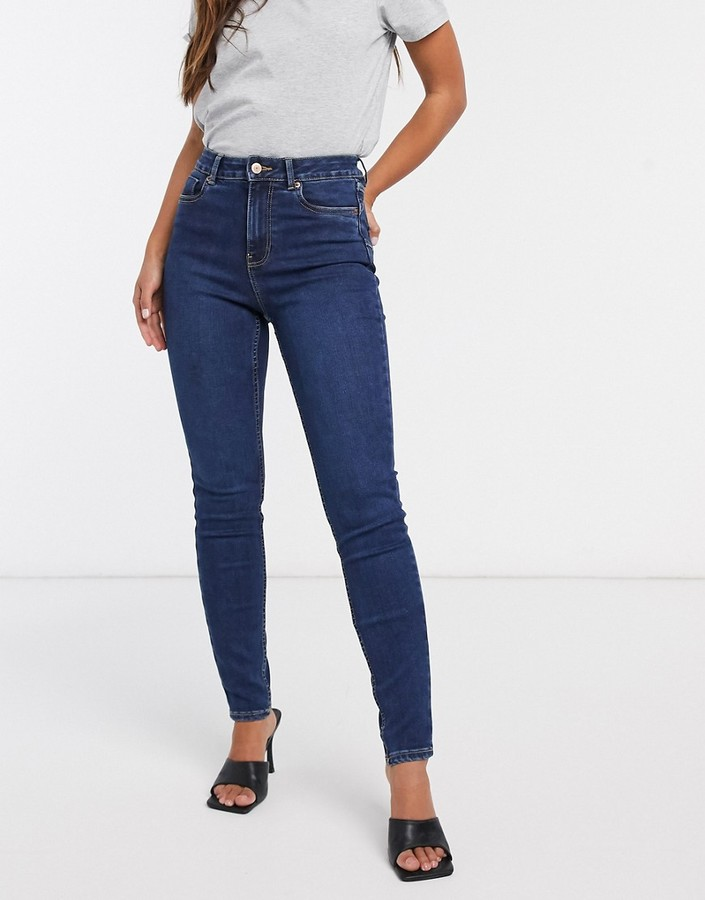 Thumbnail for your product : New Look lift and shape skinny jeans in blue