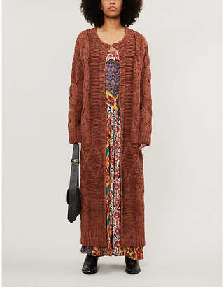 Free People Keep In Touch relaxed-fit cotton-blend cardigan