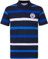 Manchester City F.C. Manchester City FC Official Soccer Gift Mens Striped Polo Shirt