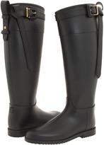 Burberry Black Equestrian Buckle Strap Rainboot Women's Rain Boots